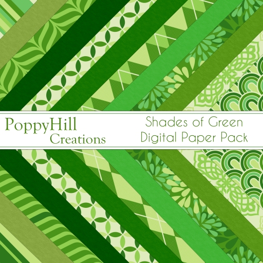 Shades of Green Paper Pack