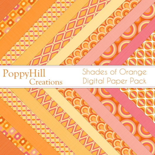 Shades of Orange Paper Pack