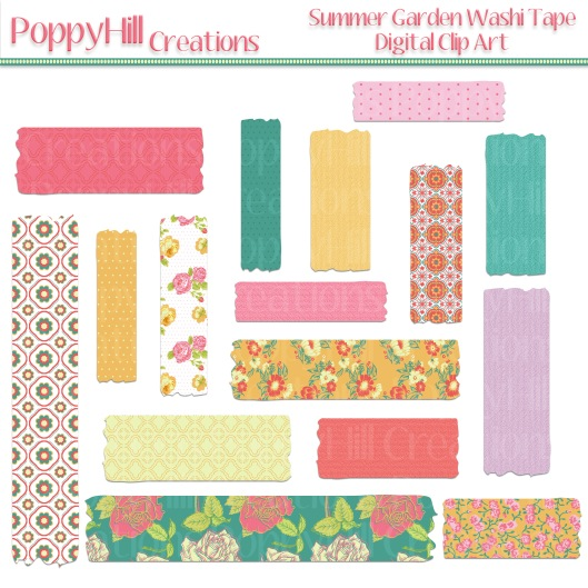 Summer Garden Washi Tape