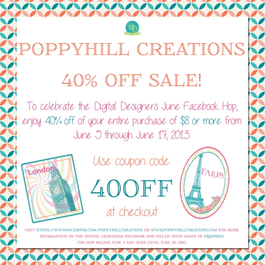 40% Off Facebook Hop Promo